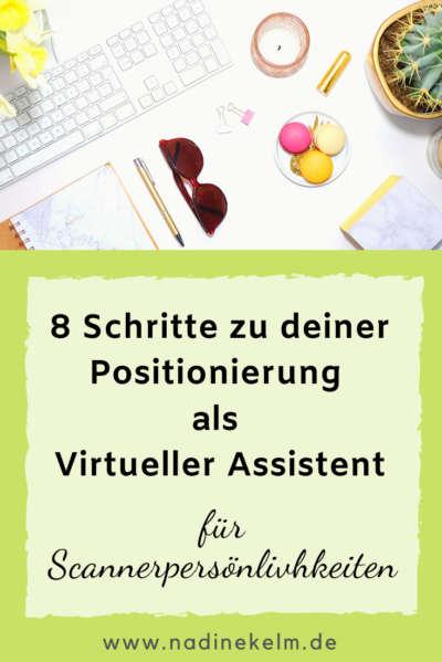 8 Schritte zu deiner Positionierung als Virtueller Assistent für Scannerpersönlichkeiten