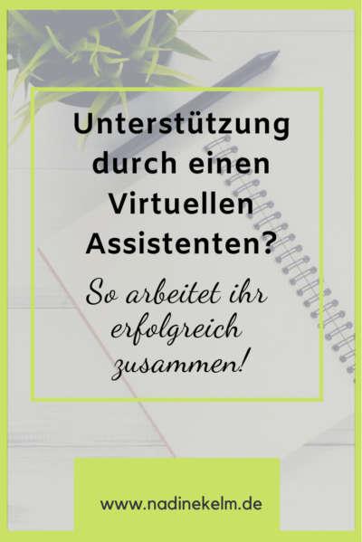 Zusammenarbeit mit einer Virtuellen Assistenz